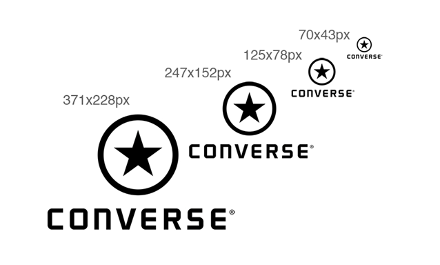 logo sizes for clothing brand