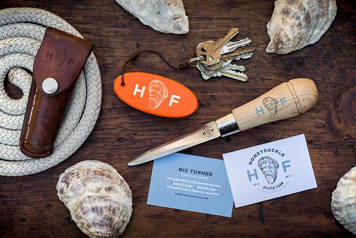 Honeysuckle Oyster Farm (HOF) branding