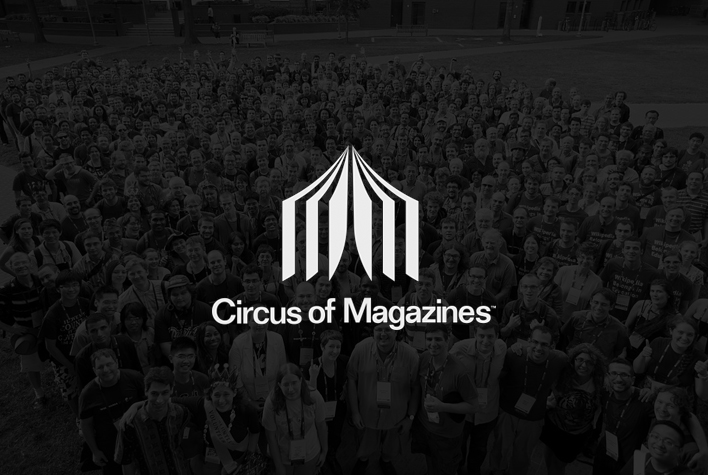 Circus of Magazines logo concept