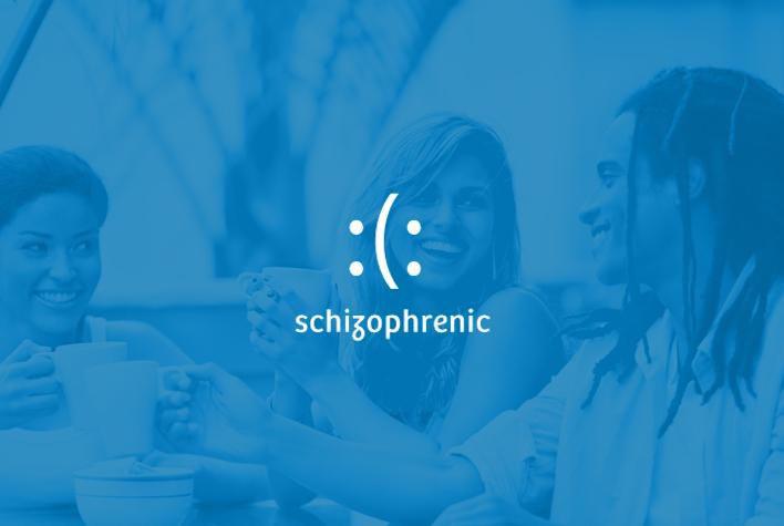 Schizophrenic logo concept