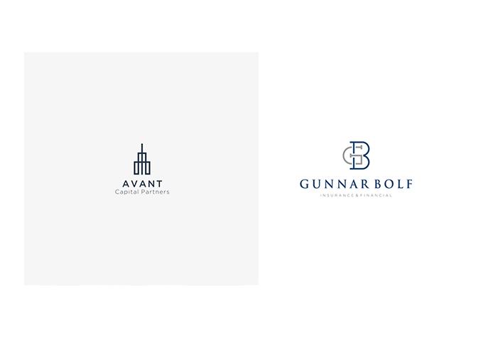 Accounting logos Geometric Designs