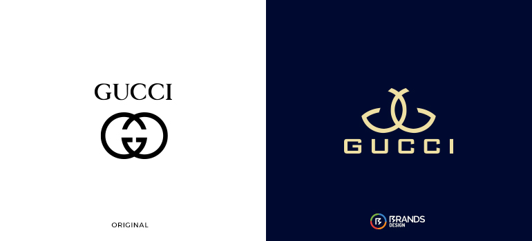 Redesigned Gucci logo