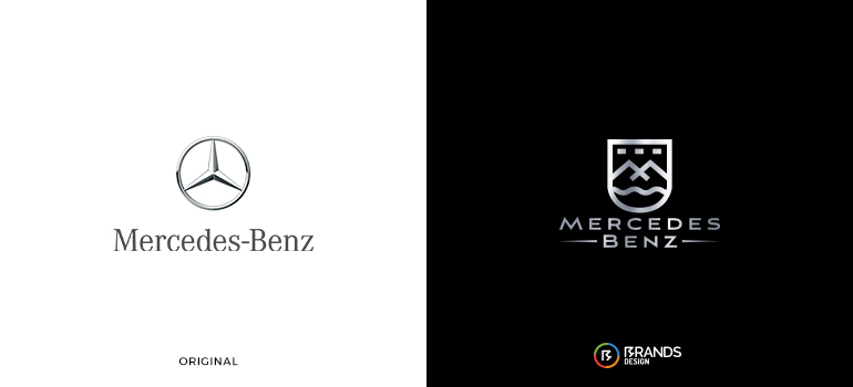 Redesigned Mercedes-Benz logo