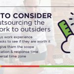 Things to consider before outsourcing the design work to outsiders