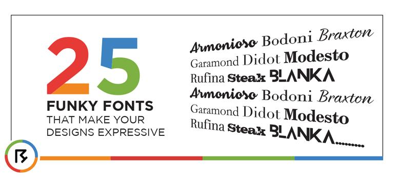 25 Funky Fonts