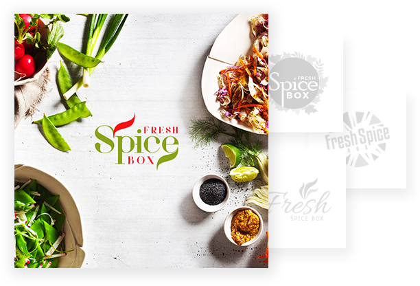 Business Logo Design Gallery - Spice Fresh Box