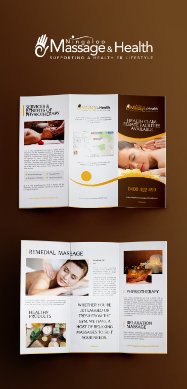 Ningaloo Massage And Health - Print Design