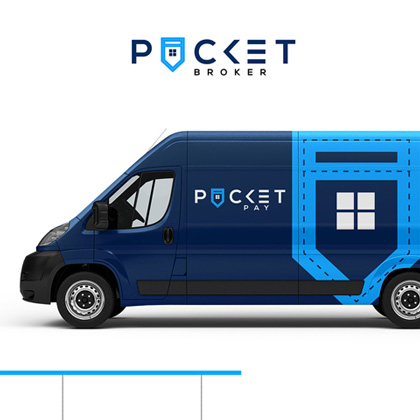 Pocket Broker - Van print design